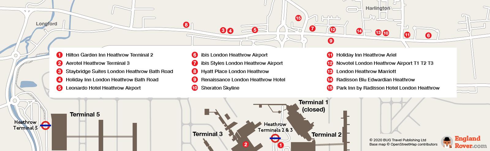 Heathrow Airport Terminals 2 & 3 hotels