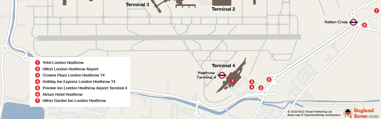Heathrow Airport Terminal 4 hotels