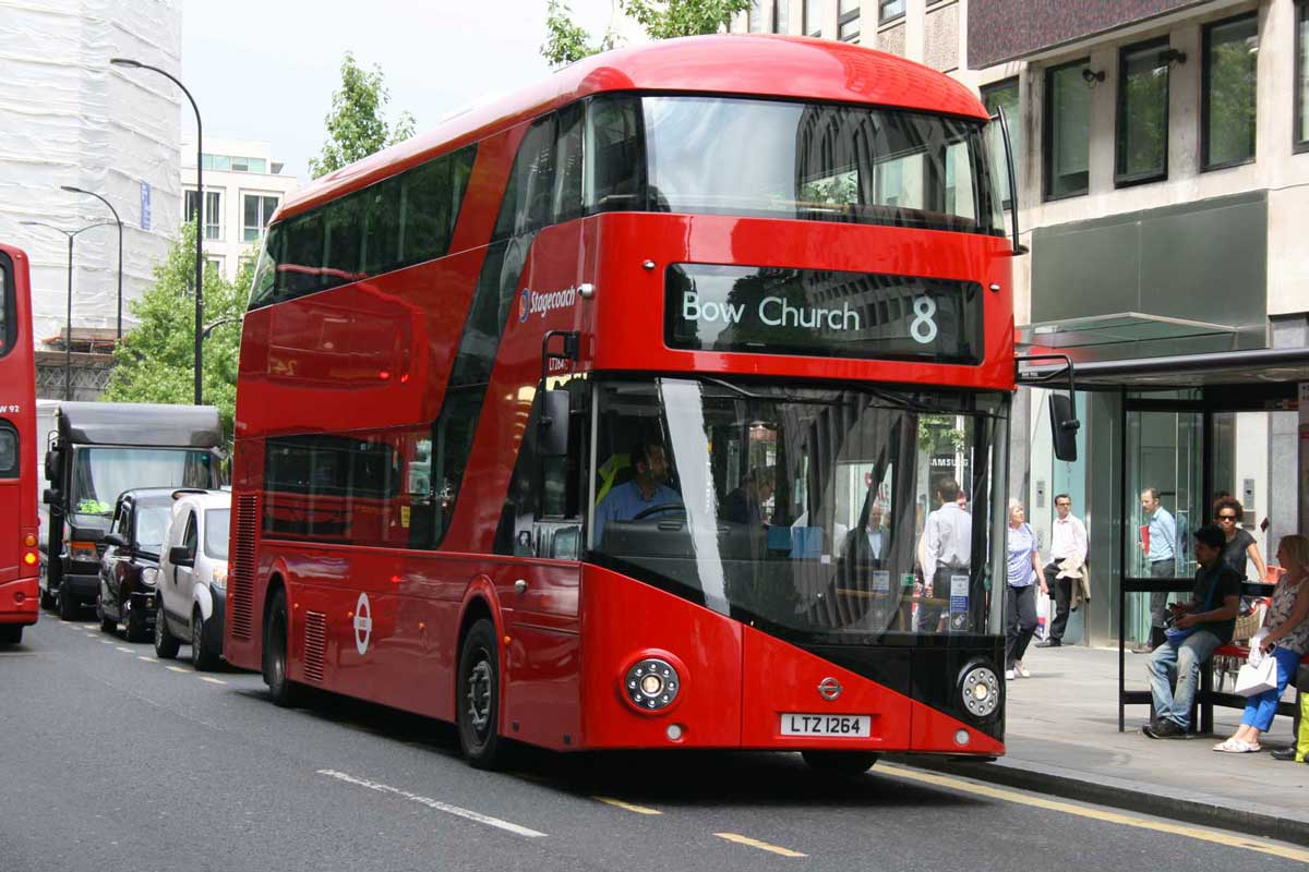 New Routemaster buses operate on many London bus routes including routes 8, 9, 11, 24 and 74
