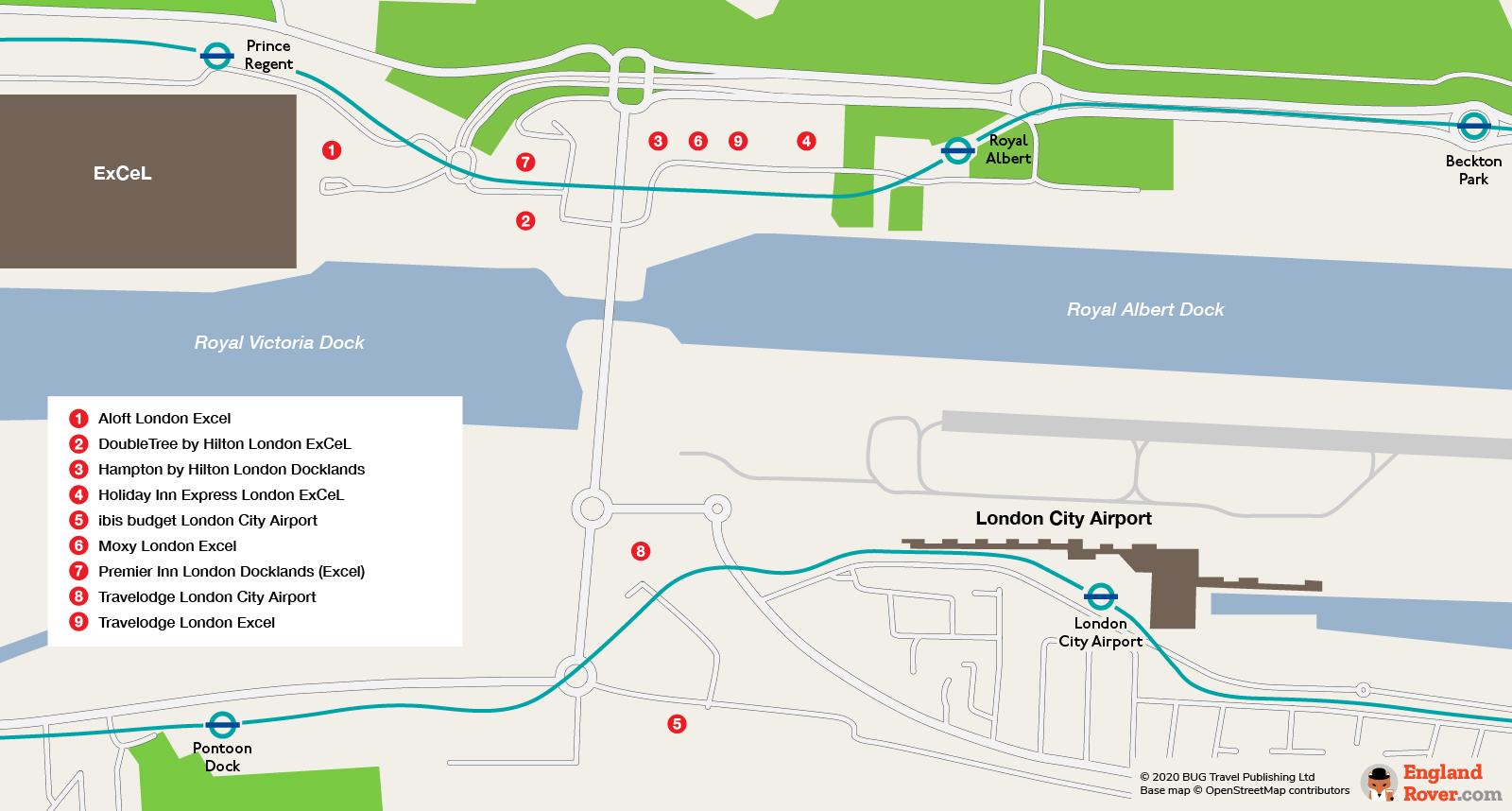 Hotels near London City Airport