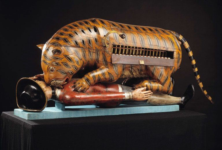 Tipu's Tiger from Victoria and Albert Museum (Photo: Victoria and Albert Museum http://collections.vam.ac.uk/item/O61949/mechanical-organ-automaton-tippoos-tiger/)