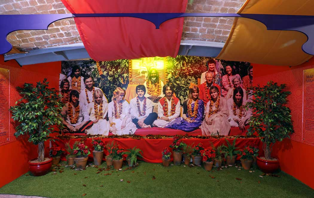 The Beatles in India exhibition at The Beatles Story in Liverpool celebrates the 50th anniversary of The Beatles visit to Rishikesh in India. The exhibition is running for two years from February 2018. (Photo © The Beatles Story, Liverpool).
