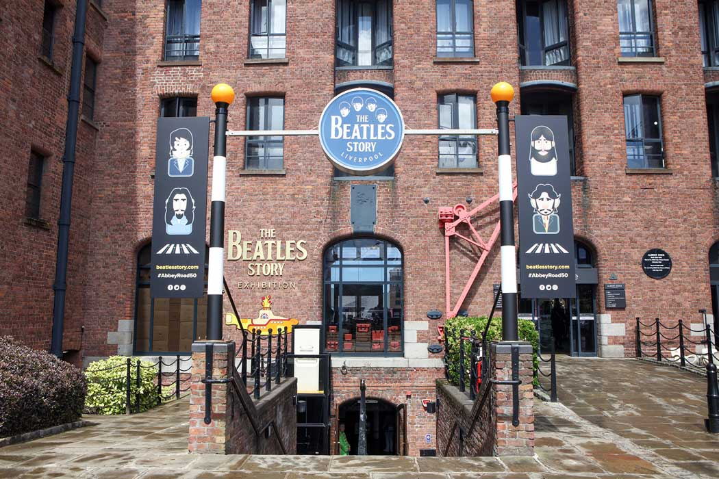 The entrance to The Beatles Story at Albert Dock in Liverpool. (Photo © The Beatles Story, Liverpool).