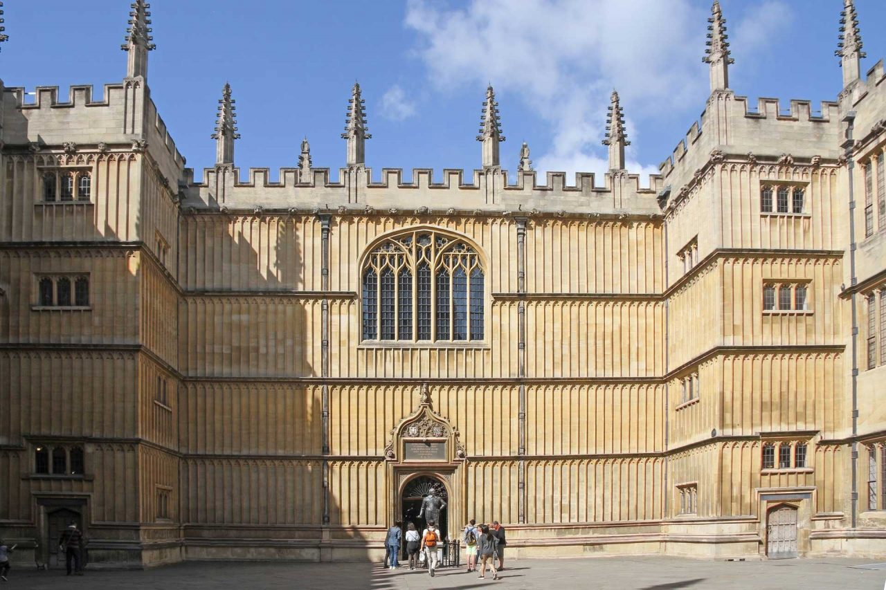 The Bodleian Library at Oxford University in Oxford, Oxfordshire