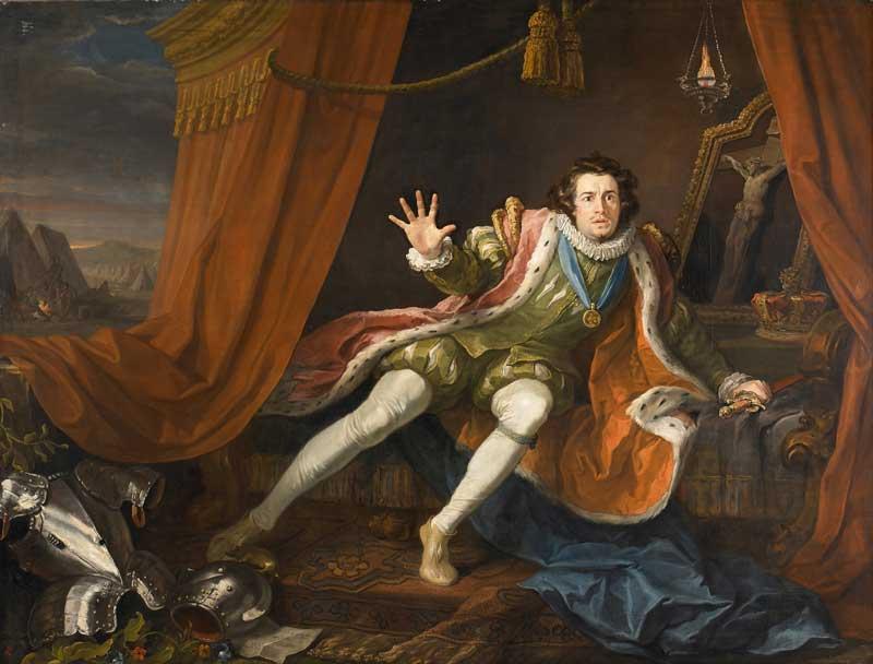 David Garrick as Richard III (1745) by William Hogarth at the Walker Art Gallery in Liverpool