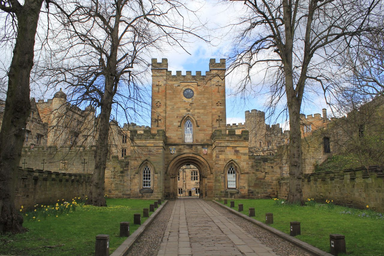 The entrance to Durham Castle in Durham, County Durham (Photo: Carla Brain [CC BY-SA 2.0])