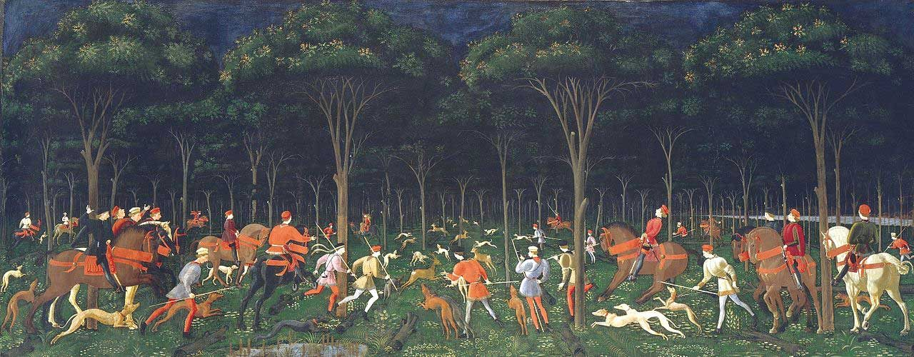 The Hunt in the Forest (circa 1470) by Paolo Uccello is perhaps the best-known painting at the Ashmolean Museum