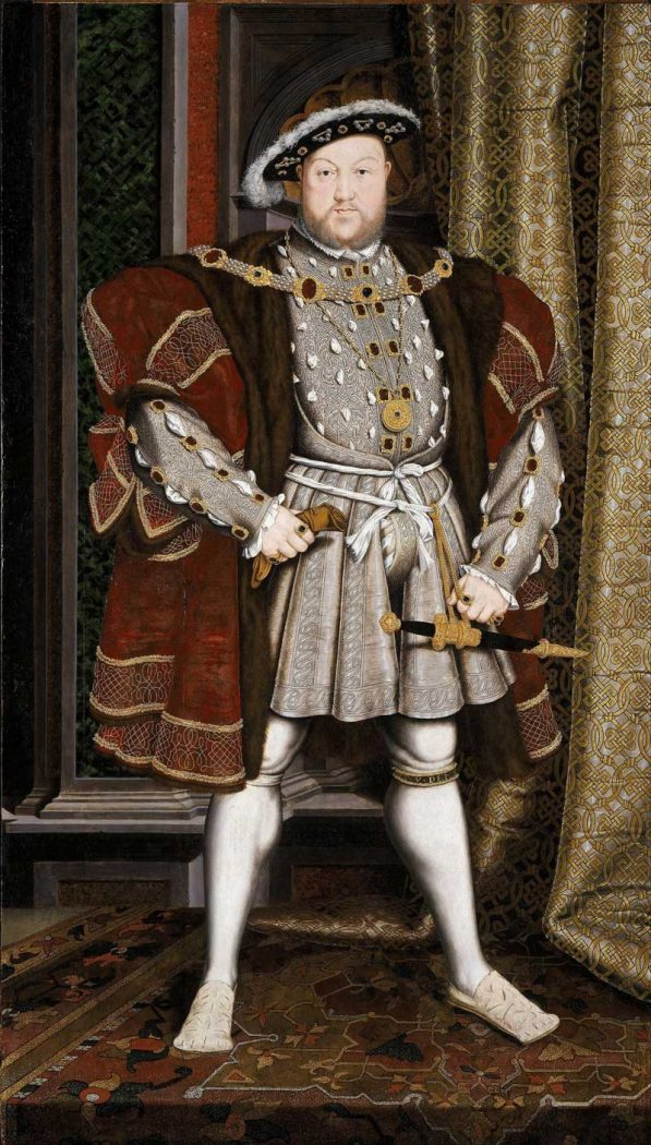 Portrait of Henry VIII (1497–1498) by Hans Holbein the Younger at the Walker Art Gallery in Liverpool