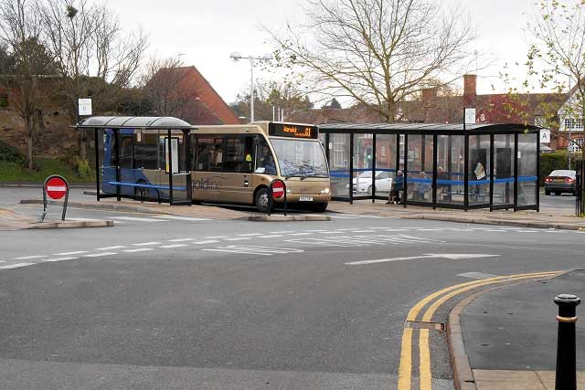 Warwick Bus Station in Warwick, Warwickshire (Photo: David Dixon [CC BY-SA 2.0])