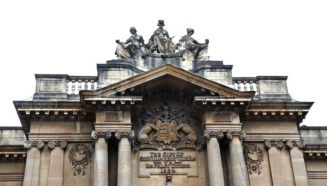 Detail from the Bristol Museum & Art Gallery exterior