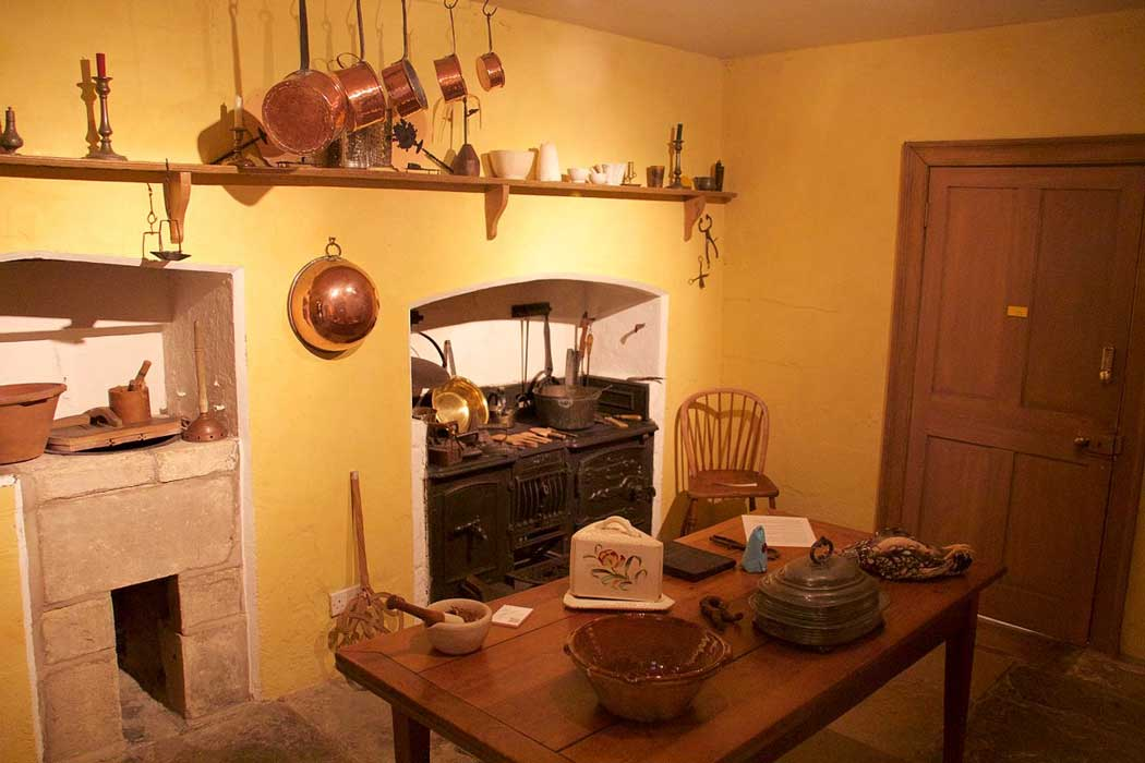 The kitchen as it would have looked when William and Caroline Herschel lived here.