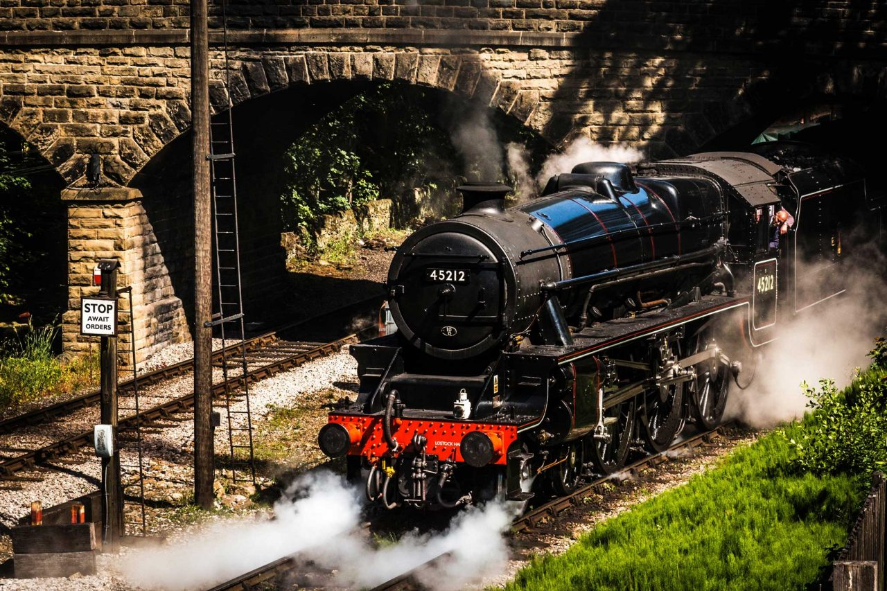 Steam train on the heritage Keighley and Worth Valley Railway, which runs between Keighley and Oxenhope via Haworth in West Yorkshire's Brontë country (Photo by Richard Horne on Unsplash)