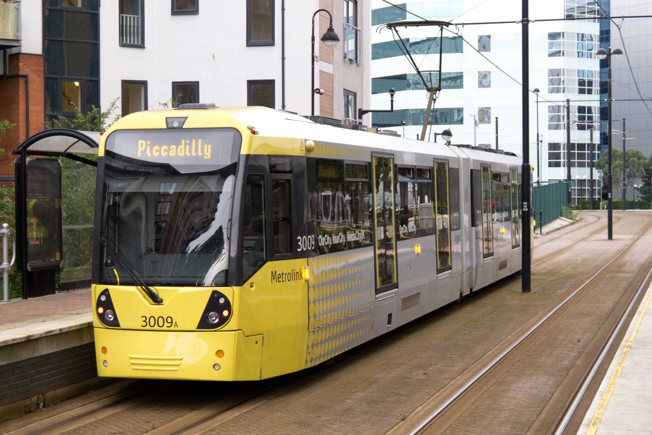 Metrolink tram in Manchester (Photo: Tom Page [CC BY-SA 2.0])