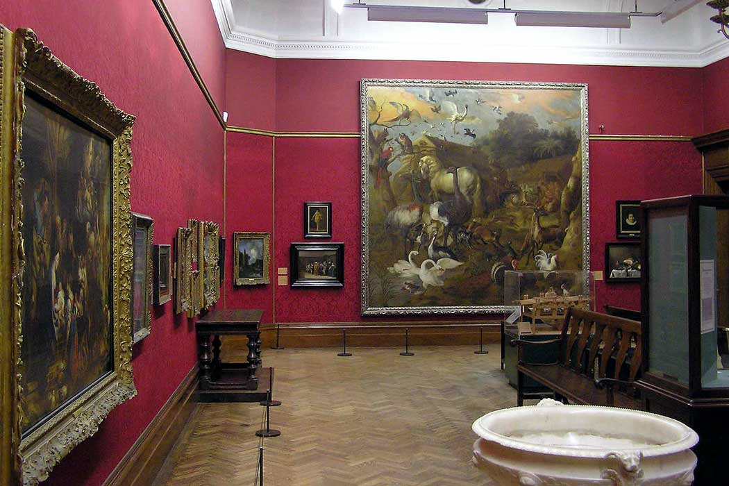 The large 4m x 4m (13 ft x 13 ft) Noah's Ark (c 1700) by Jan Griffier dominates one of the museum's art galleries.