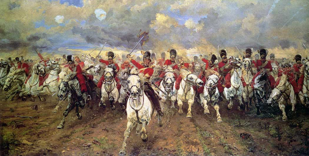 Scotland Forever (1881) by Elizabeth Southerden Thompson, Lade Butler.