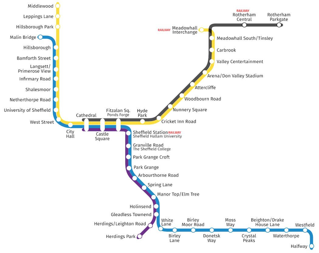 Sheffield Supertram network map (Photo: David Arthur [CC BY-SA 2.0 CA])