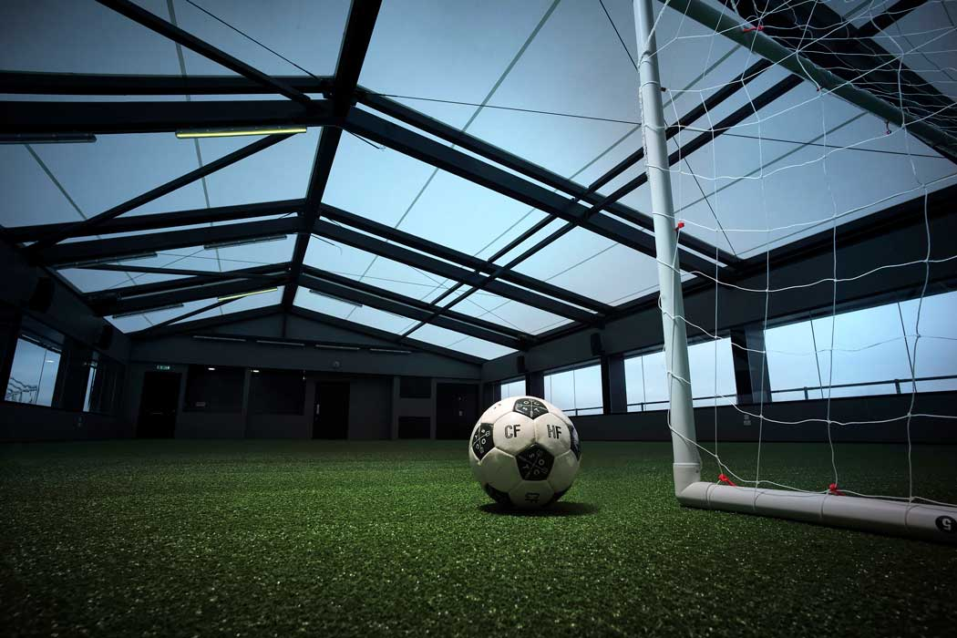 The hotel's Heaven rooftop space features a five-a-side football pitch. (Photo: Marriott)