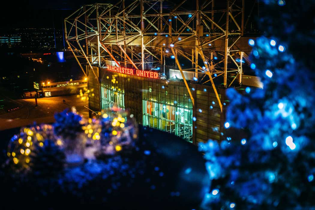 A view of Old Trafford stadium from the hotel's Heaven rooftop area. (Photo: Marriott)