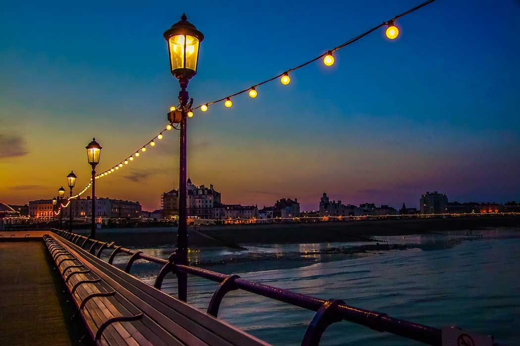 The Brighton Palace Pier is a lovely spot to walk to the end of to watch the sunset