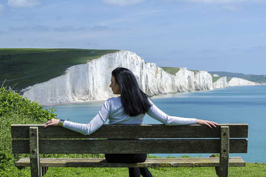 The Seven Sisters cliffs near Eastbourne in East Sussex