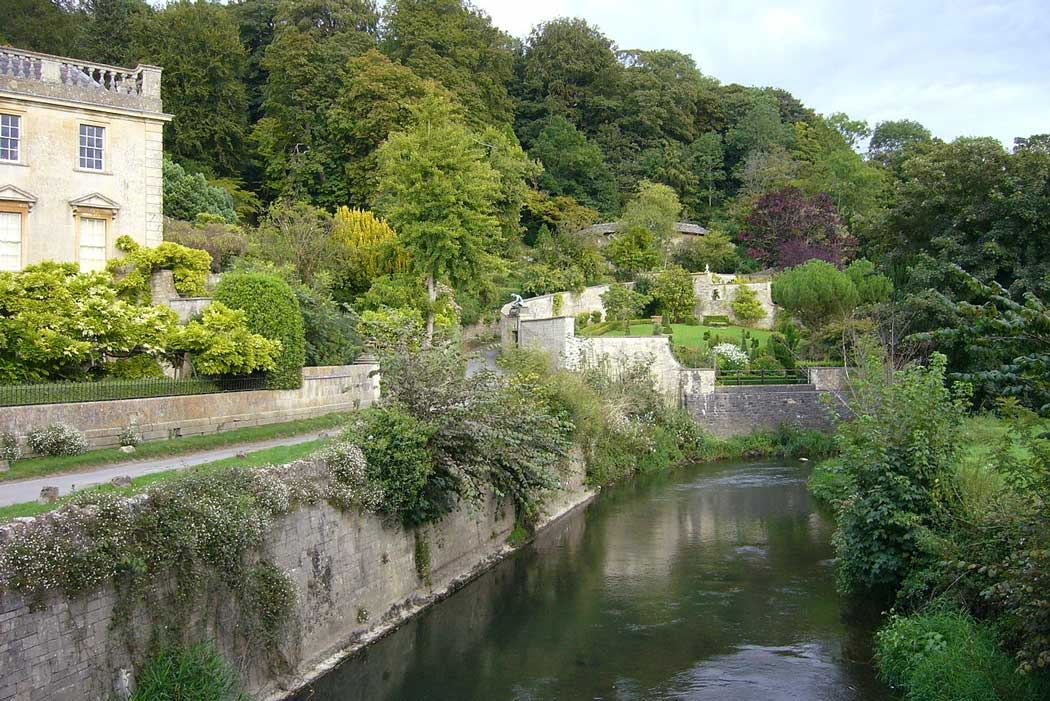 View of Iford Manor Gardens from the bridge. The gardens are a popular excursion from Bradford on Avon. (Photo: Tom Oates [CC BY-SA 3.0])