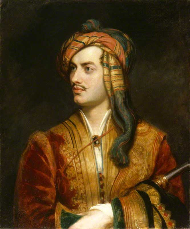 Thomas Phillips painted this portrait of Lord Byron in 1813. The costume worn by Lord Byron can be seen in the exhibition rooms upstairs at Bowood House.