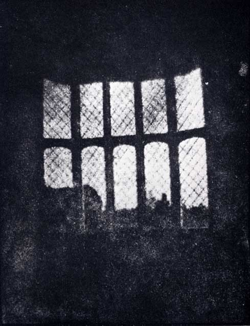 William Henry Fox Talbot took this photo of a latticed window in Lacock Abbey in August 1835. It is believed to be the world's oldest photographic negative produced by a camera.
