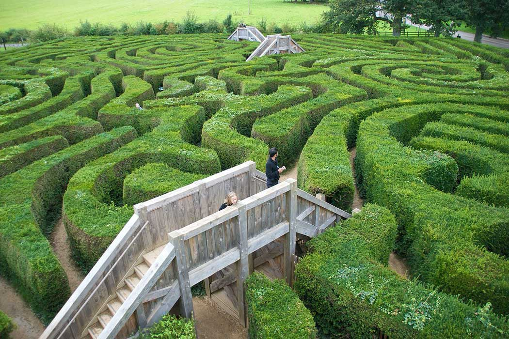 Longleat features the world's longest hedge maze. It features six raised footbridges that help you find your way out of the maze but despite this advantage it many people spend up to one and a half hours trying to find their way to the exit. (Photo: Niki Odolphie [CC BY-SA 2.0])