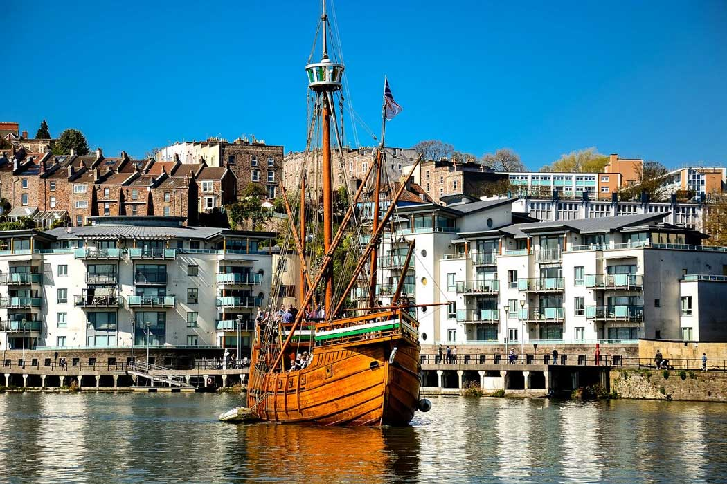 The Matthew of Bristol is a full-size replica of the caravel that John Cabot sailed in 1497 when he discovered Newfoundland. It is free to visit the ship and cruises operate on Bristol Harbour and the Avon River Gorge. (Photo: David Harper from Pixabay)