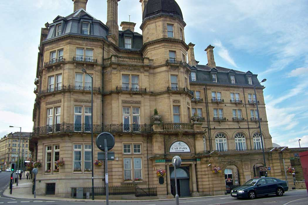 Bradford's Midland Hotel is a grand railway hotel from the Victorian era that represents a good central accommodation option. (Photo: Mtaylor848 [CC BY-SA 3.0])
